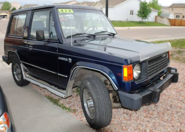 Blue 1987 4Cyl Dodge Raider