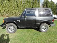 Black 87 Dodge Raider. 2.6L four-cylinder automatic